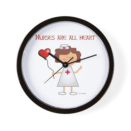 NURSES ARE ALL HEART Wall Clock
