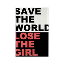 Save The World... Rectangle Magnet