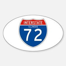Interstate 72 - IL Oval Decal