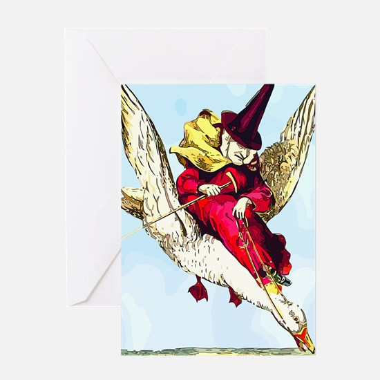 Old Mother Goose Greeting Card