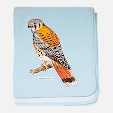 American Kestrel Bird baby blanket