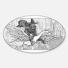 Mother Goose flying Decal