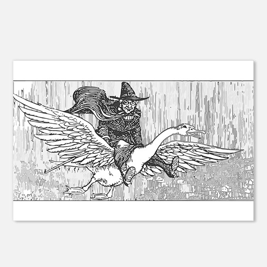 Mother Goose flying Postcards (Package of 8)