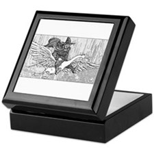 Mother Goose flying Keepsake Box