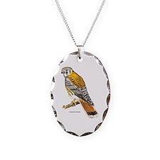 American Kestrel Bird Necklace Oval Charm