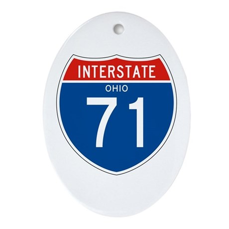 Interstate 71 - OH Oval Ornament