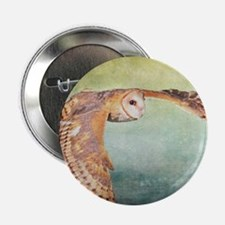 "Barn Owl 2.25"" Button"