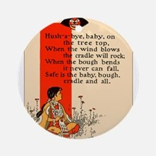 Hush-a-bye, baby Ornament (Round)