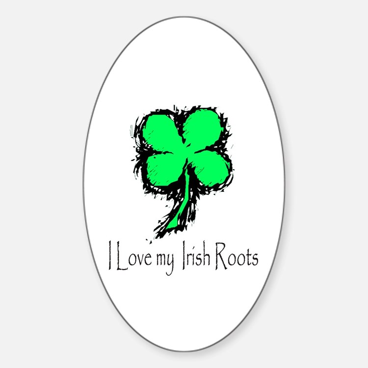 IRISH ROOTS Oval Decal