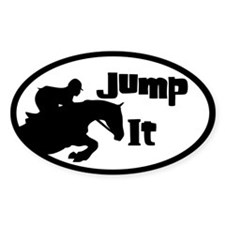 Jumping Horse Oval Stickers