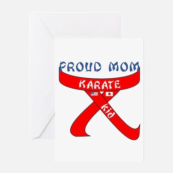 Proud Mom Karate Kid Greeting Card