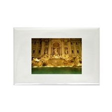 Trevi fountain at nigh Rectangle Magnet (100 pack)