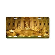 Trevi fountain at night, Ro Aluminum License Plate