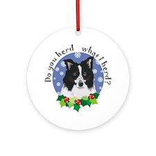 Border Collie Christmas Ornament (Round)