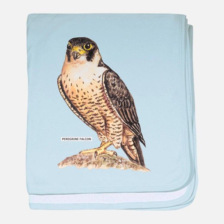 Peregrine Falcon Bird baby blanket