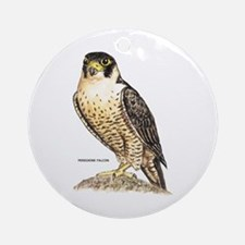 Peregrine Falcon Bird Ornament (Round)
