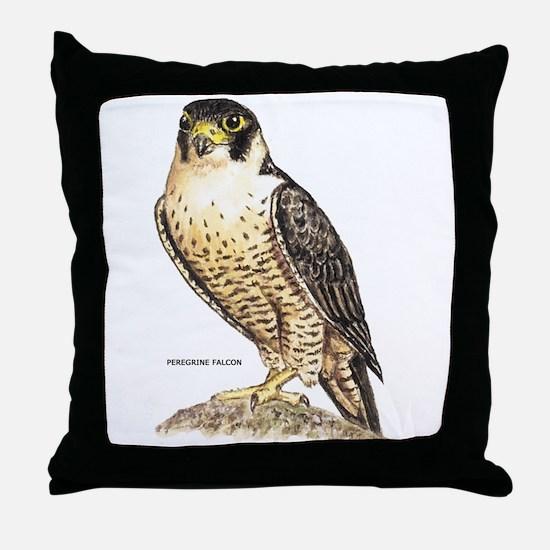 Peregrine Falcon Bird Throw Pillow