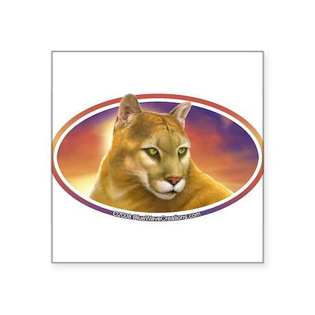 Mountain Lion Cougar Decal Bumper Oval Sticker