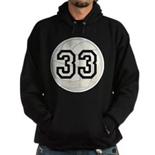 Volleyball Player Number 33 Hoodie