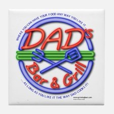 Dads Bar&Grill Tile Coaster