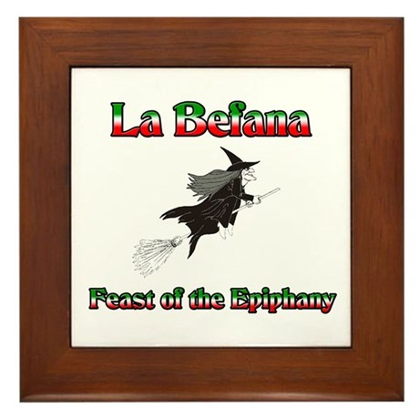 La Befana Framed Tile