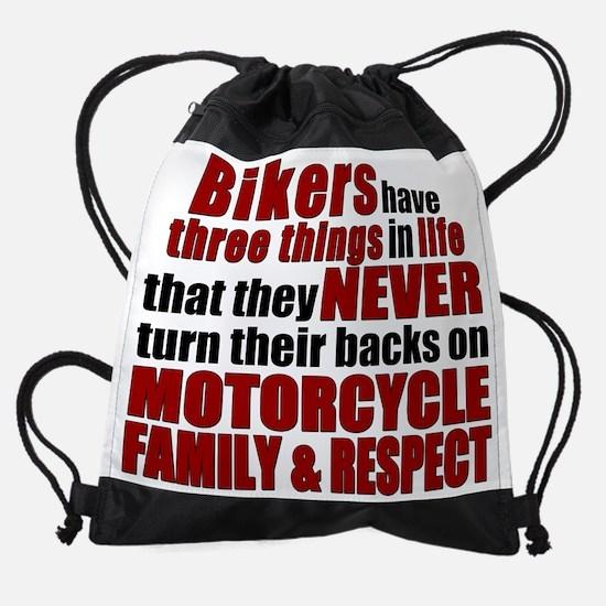 Three Things - Bikers Drawstring Bag