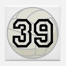 Volleyball Player Number 39 Tile Coaster