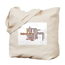 Introvert Strengths Word Cloud 1 Tote Bag