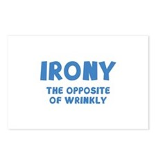 IRONY the opposite of wrinkly Postcards (Package o