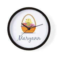 Easter Basket Maryann Wall Clock