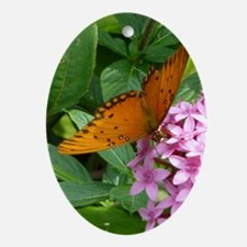 Passion Vine Butterfly Ornament (Oval)