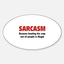 SARCASM Sticker (Oval)