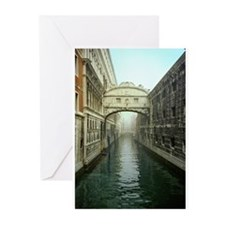 Bridge of Sighs in Venice Greeting Cards (Package