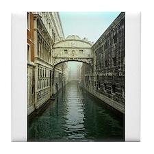 Bridge of Sighs in Venice Tile Coaster