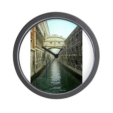 Bridge of Sighs in Venice Wall Clock