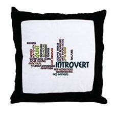 Introvert Strengths Word Cloud 2 Throw Pillow
