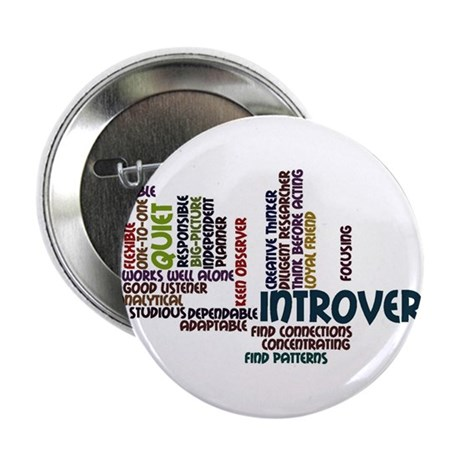"Introvert Strengths Word Cloud 2 2.25"" Button"