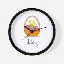 Easter Basket May Wall Clock