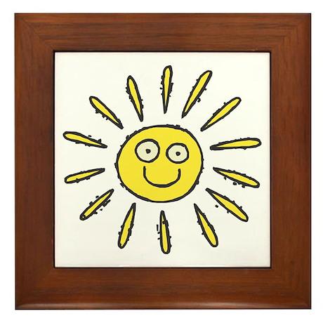 Happy Sun Framed Tile