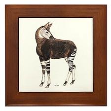 Okapi Animal Framed Tile