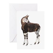 Okapi Animal Greeting Cards (Pk of 10)