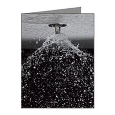Fire Sprinkler Spraying Note Cards (Pk of 10)