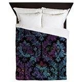 Purple damask Queen Duvet Covers