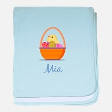 Easter Basket Mia baby blanket