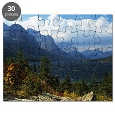 View across St. Mary lake in Glacier Nation Puzzle
