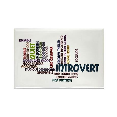 Introvert Strengths Word Cloud 2 Rectangle Magnet