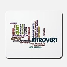 Introvert Strengths Word Cloud 2 Mousepad