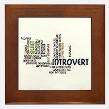 Introvert Strengths Word Cloud 2 Framed Tile
