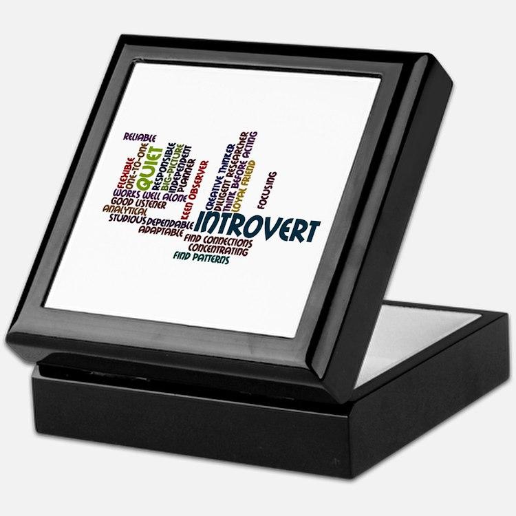 Introvert Strengths Word Cloud 2 Keepsake Box