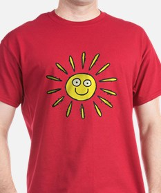 Happy Sun Dark Red T-Shirt